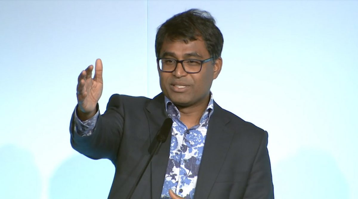 Danny Sriskandarajah speaking at the National Council for Voluntary Organisations in London
