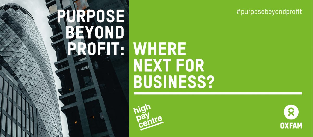 PURPOSE BEYOND PROFIT DEBATE