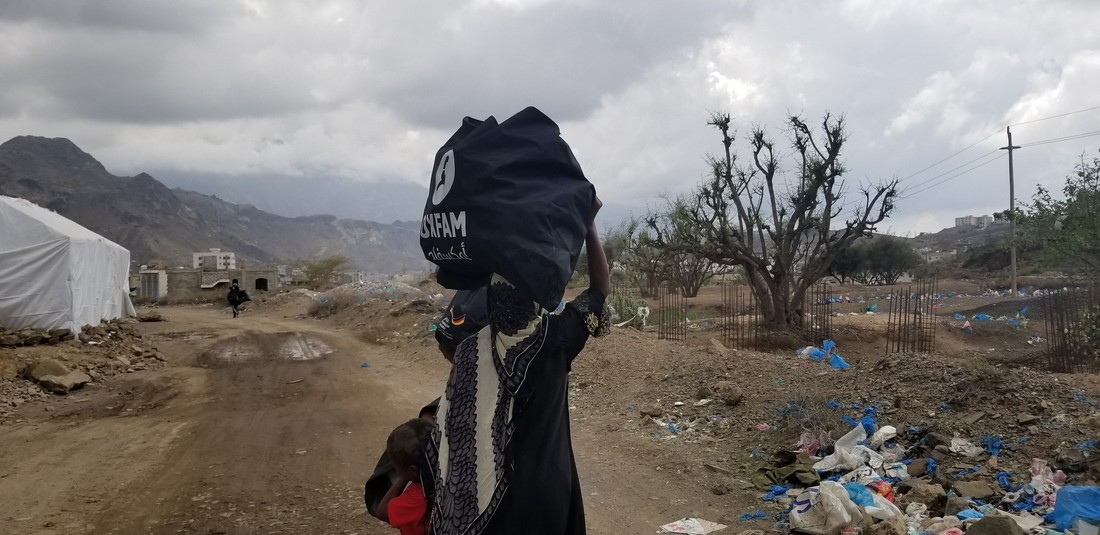 Hygiene kit distribution in Taiz, Yemen