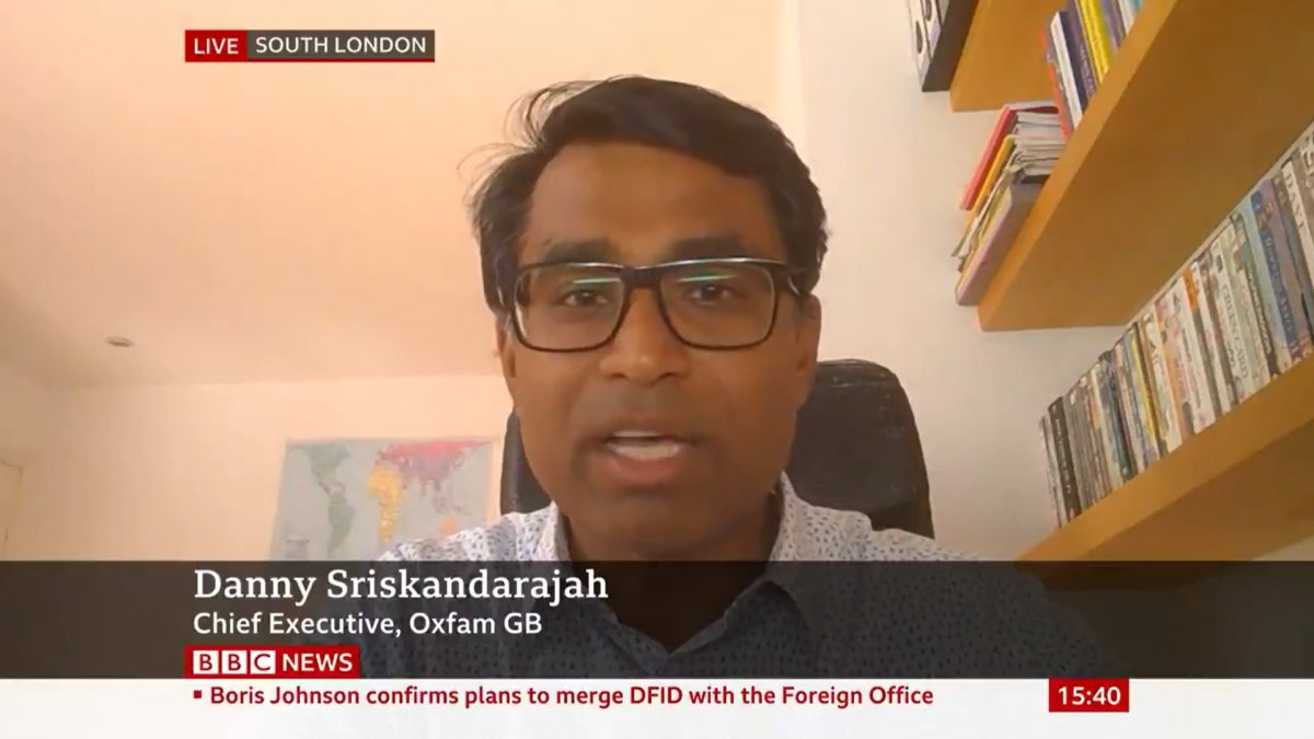 TV INTERVIEWS ON DFID AND FOREIGN OFFICE MERGER