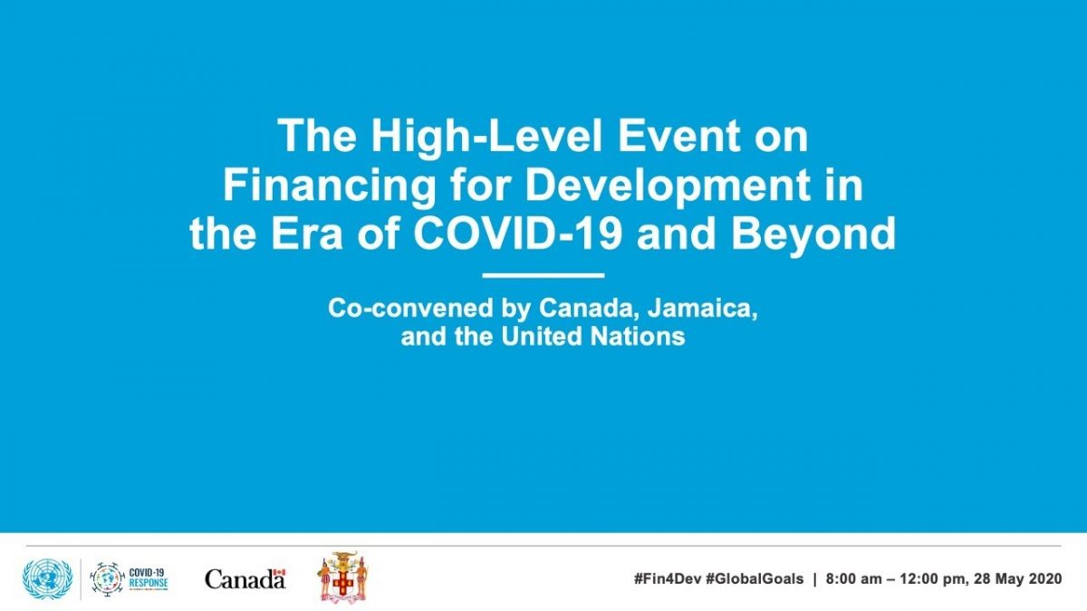 UN SPEECH: SUPPORTING DEVELOPING COUNTRIES DURING COVID19